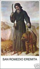 SANTINO HOLY CARD SAN ROMEDIO EREMITA