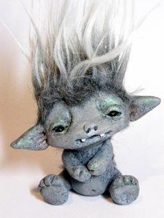 OOAK Stone Goblin Trollfling Troll baby Tomas by от Trollflings