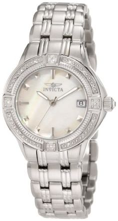 Invicta Women's 0266 II Collection Diamond Accented Stainless Steel Watch: Watches: Amazon.com