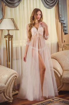 Bridal Nightgown, Lace Nightgown, Bridal Robes, Bridal Nightwear, Bridal Lingerie, Peignoir, Victoria Dress, Bridesmaid Dresses, Wedding Dresses