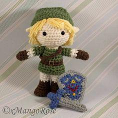 Link from Legend of Zelda Amigurumi Doll