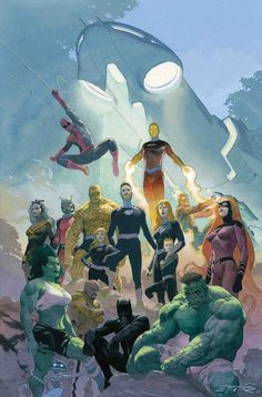 Marvel Welcomes Home the Fantastic Four Fantastic Comic Covers Comic Art Comic art and comic covers Marvel Girls, Marvel Vs, Marvel Dc Comics, Heros Comics, Comics Anime, Marvel Heroes, Marvel Secret Wars, Captain Marvel, Comic Book Artists