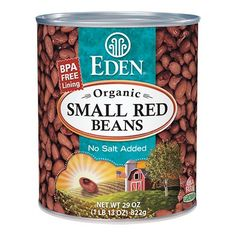 Small Red Beans, Organic 29 oz. BPA free lined can. #EdenFoods