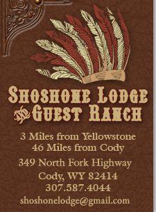Shoshone Lodge & Guest Ranch Yellowstone Park Cody Wyoming Wapiti WY