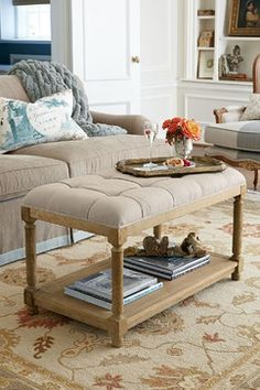 Laurette Tufted Ottoman - transitional - Furniture - St Louis - Soft Surroundings