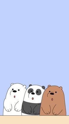 Cute Panda Wallpaper, Cartoon Wallpaper Iphone, Bear Wallpaper, Cute Disney Wallpaper, Cute Wallpaper Backgrounds, Kawaii Wallpaper, We Bare Bears Wallpapers, Panda Wallpapers, Cute Cartoon Wallpapers