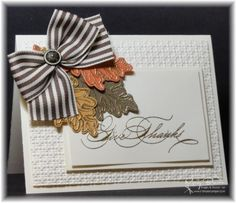 """Gently Falling """"Give Thanks"""" Card...by stampercamper-Cards and Paper Crafts at Splitcoaststampers."""