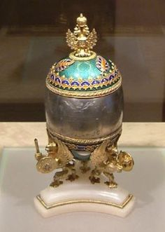 The Trans-Siberian Railway Egg photographed in the Kremlin in 2003