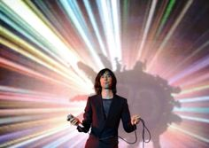 Bobby Gillespie - founder and lead singer of Scottish techno rock group, Primal Scream.