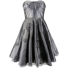Silver prom dresses ❤ liked on Polyvore featuring dresses, black prom dresses, evening dresses, black skater skirt, cocktail party dress and prom dresses