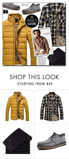 """""""NewChic 21 (Mens Fashion)"""" by adnaaaa ❤ liked on Polyvore featuring J.Crew, men's fashion and menswear"""