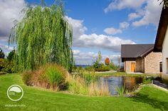 #landscape #architecture #garden #path #water #feature #pond #lawn #trees