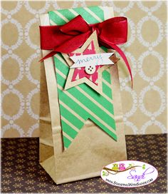 Petie Cafe Gift Bags by Sandi @ www.stampingwithsandi.com