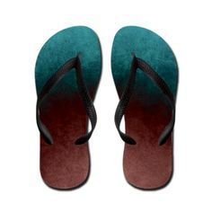 abstract painting in colors Flip Flops on CafePress.com