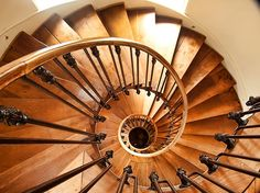 Spiral staircase from the house of Jules Verne