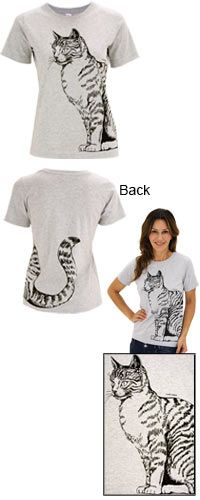 Cat Tail Scoop Neck Tee at The Animal Rescue Site