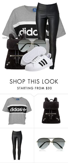 """""""K"""" by kylizzlee1 ❤ liked on Polyvore featuring adidas Originals, Balenciaga, VILA and Victoria Beckham"""