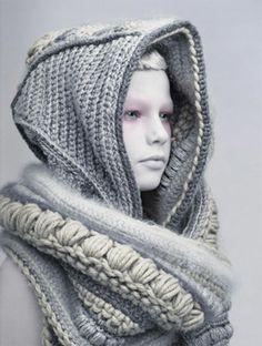 Envuelta en una bufanda