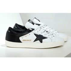 Scarpe 2016 Golden Goose B/W Edt Handmade Low GGDB Uomo Sneakers Bianca With Nero Outlet