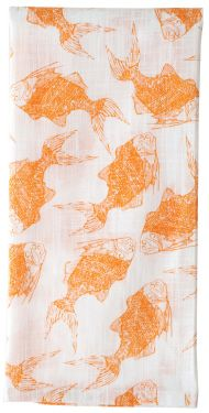 koi kitchen towel by rock flower paper