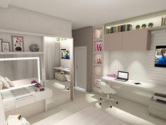 Room Design Bedroom, Girl Bedroom Designs, Room Ideas Bedroom, Small Room Bedroom, Interior Design Living Room, Bedroom Decor, Cool Kids Bedrooms, Cool Rooms, Dream Rooms