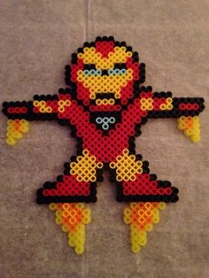 Iron Man perler bead sprite http://mistertrufa.net/librecreacion/culturarte/?p=12