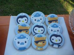Octonauts: Character Cookies by Cookie Mumma 10th Birthday, Birthday Celebration, Birthday Cakes, Birthday Parties, Octonauts Party, Party Themes, Party Ideas, Cookies For Kids, Decorated Cookies