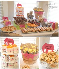 Elephant Theme Birthday Party from pigskinsandpigtails.com