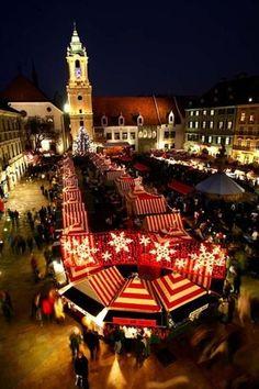 Christmas Market in Bratislava, Slovakia http://www.travelandtransitions.com
