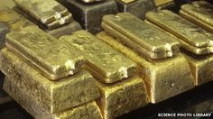 File photo of gold ingots It is alleged the gold was processed into ingot.
