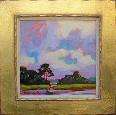 """Edisto Cumulus"" Betty Anglin Smith - Anglin Smith Fine Art 12 x 12  $2400"