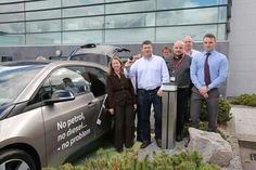 Celebrating Environmental awareness week at PM Group in Cork promoting a new ecar charging point on PM Group's campus Cork, Irish, Environment, Group, Celebrities, Celebs, Irish Language, Corks, Ireland