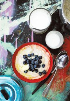 Kvinoa-kookospuuro - Puurot - Reseptit - Helsingin Sanomat Acai Bowl, Gluten Free, Pudding, Tasty, Snacks, Baking, Breakfast, Healthy, Desserts
