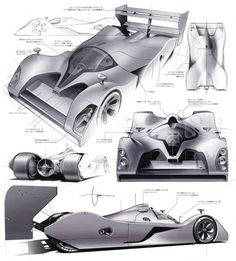 The Timeless Racer: Machines of a Time Traveling Speed Junkie (English, German and French Edition): Daniel Simon Car Design Sketch, Car Sketch, Industrial Design Sketch, Futuristic Cars, Car Drawings, Cool Sketches, Transportation Design, Automotive Design, Design Reference