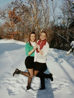 Best friend pictures in the snow