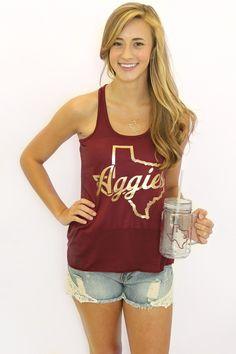 Southern Jewlz Online Store - Metallic Aggie Tank, (http://www.southernjewlz.com/metallic-aggie-tank/)