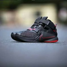 check out c2637 42e3c The Nike LeBron Zoom Soldier 9 is rendered in a classic Black and Red  colorway for its latest iteration this season.