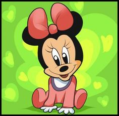 How to Draw Baby Minnie Mouse, Step by Step, Disney Characters, Cartoons, Draw Cartoon Characters, FREE Online Drawing Tutorial, Added by Dawn, December 25, 2010, 1:38:07 pm