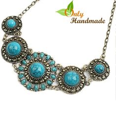 Gypsy Blue Crystal Collar Necklace