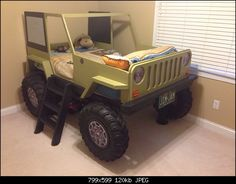 Jeep bed for the boys room - Kcrof on the WranglerForum is going to offer plans for 20 bucks.