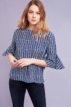 Langley Silk Blouse, Blue