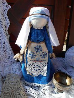 """Купить """"Лада"""" Кукла -оберег. - синий, кукла ручной работы, кукла в подарок, кукла текстильная"""