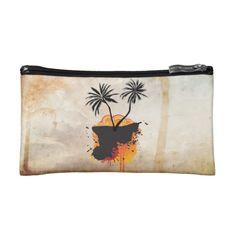 Caribbean Summer Designs Small Cosmetic  Bag Makeup Bag