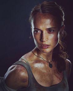 Alicia Vikander as Lara Croft - Tomb Raider Tomb Raider Alicia Vikander, Alicia Vikander Lara Croft, Alicia Vikander Style, Alicia Vikander Movies, Tomb Raider 2018, Tomb Raider Movie, Live Action, Laura Croft, Swedish Actresses
