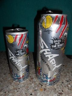 Other Soda Advertising Memorabila Shark Energy Drink, Energy Drinks, Big And Small, Cyprus, Empty, Advertising, Canning, Products, Style