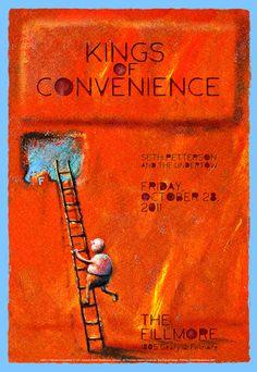 ::Tutoriais Photoshop::: Inspiração, Cartazes de Rock: Kings of Convenience.