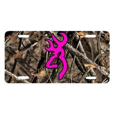 Pink Browning Buck on Camo License Plate Cool Truck Accessories, Truck Accesories, Vehicle Accessories, Camo Truck, Pink Truck, Future Trucks, Future Car, Camo Wallpaper, Country Trucks