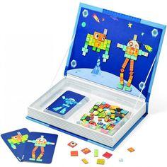 magnetická kniha - roboti | Dětské hračky pro holky i kluky | ookidoo.com