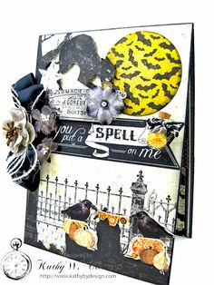 You Put a Spell on Me Card, Authentique Mysterious, by Kathy Clement, Photo 2