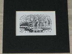 ERIC RAVILIOUS - KYNOCH PRESS NOTEBOOK & DIARY 1933 - WOOD ENGRAVING - WOODCUT